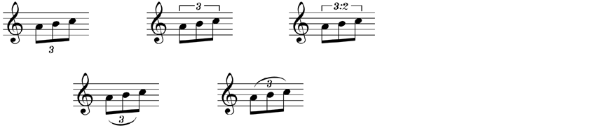 All of these are valid ways to notate triplets