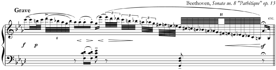 from Beethoven, Sonata no. 8 op. 13 'Pathétique'