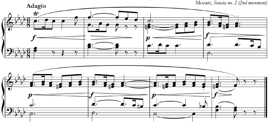 Q. In which key is this music written?
