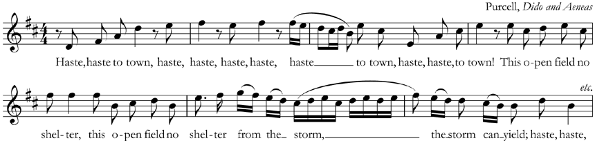 From Purcell, 'Dido and Aeneas'