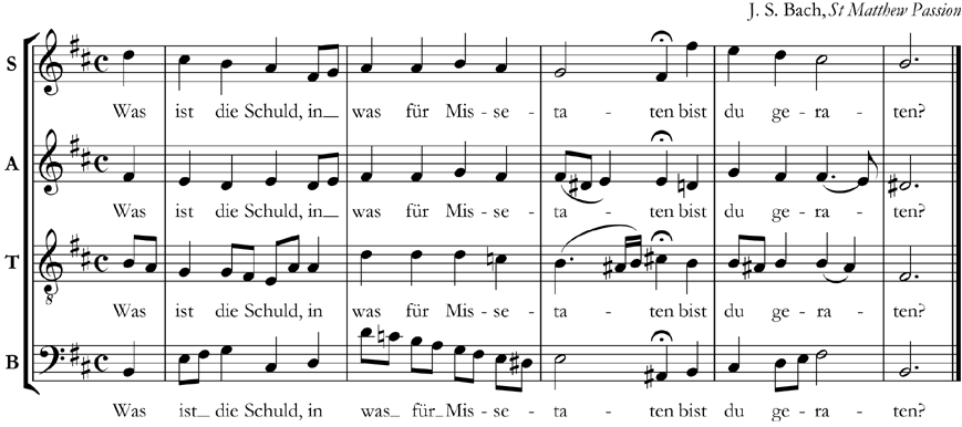 The same Bach chorale in open score
