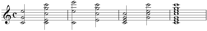 A collection of C major chords