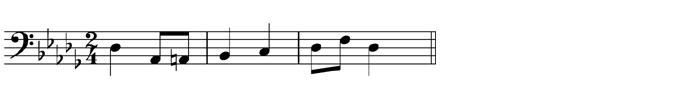 Transpose up one octave, using the alto clef