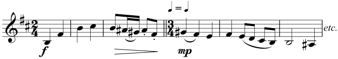 The crotchet beat remains the same even though the number of beats per bar changes