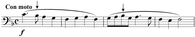 'Deck the Hall', with a key signature of one flat
