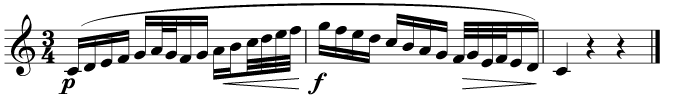 Can you spot the demisemiquavers in this music?