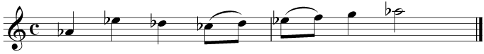 First, write out the enharmonic equivalent