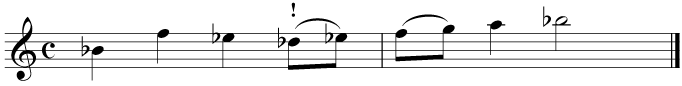 Second, transpose up by a tone