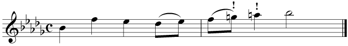 Finally, write in the key signature while looking out for accidentals