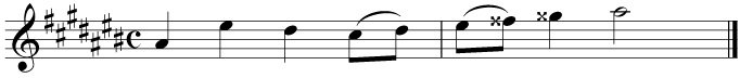 The same music in A sharp minor