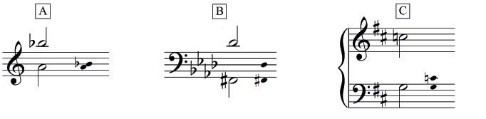 Three mystery intervals to identify