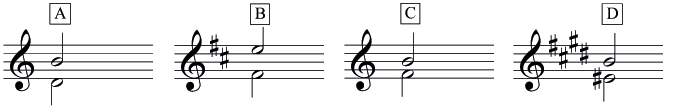 Four mystery intervals to identify