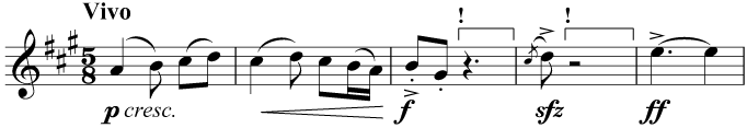 Incorrect combination of rests in 5/8