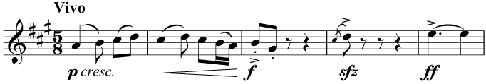 Correctly combined rests in 5/8, taking the beat groups (3 + 2) into account
