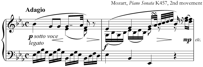 Music from a slow movement by Mozart