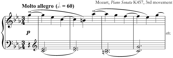 A very fast movement by Mozart